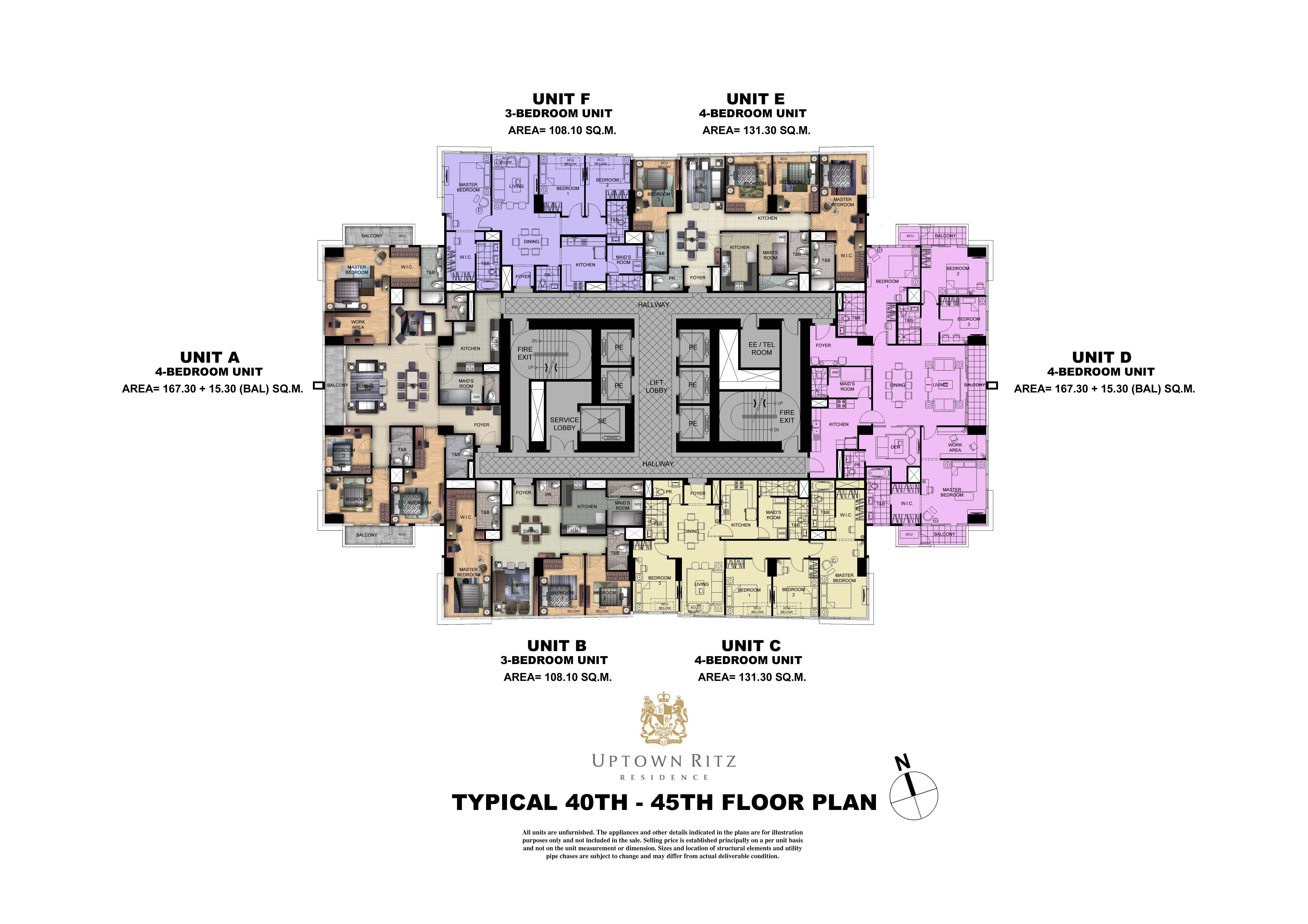 Uptown Rits 40th-45th  Floor Plan