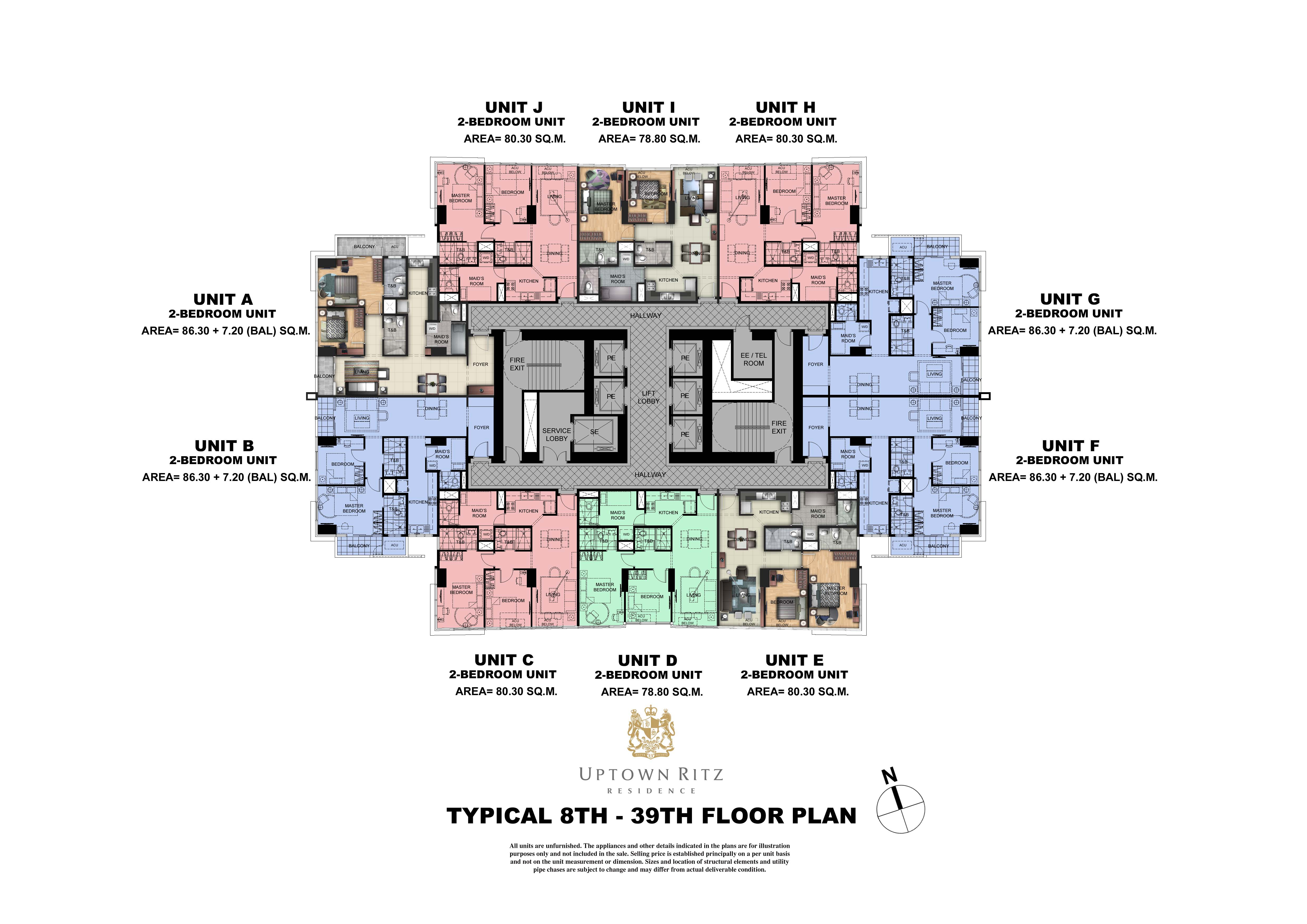 Uptown Rits  8th -389th Floor Plan
