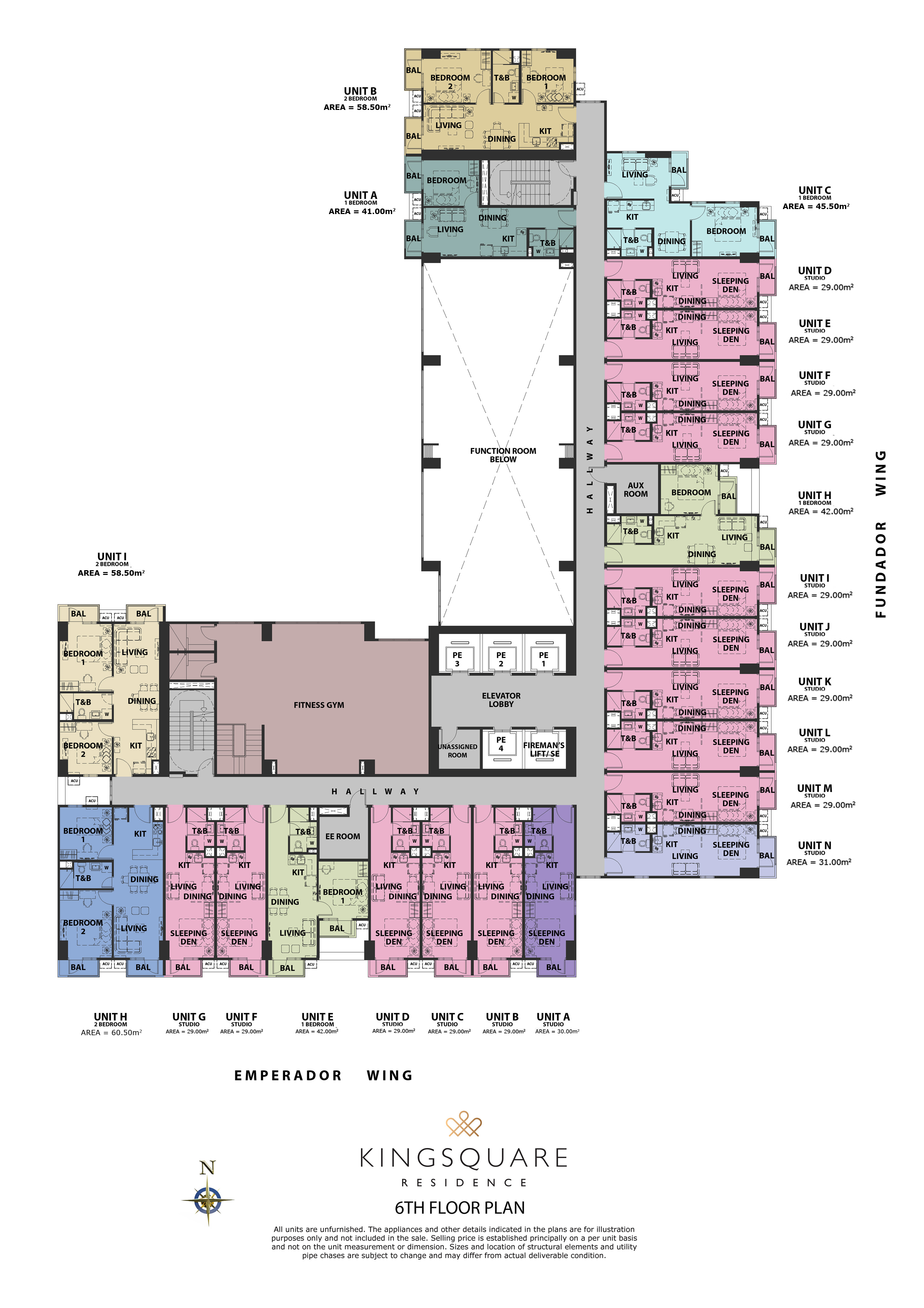 Kingsquare Residence San Lazaro (6th floor plan)